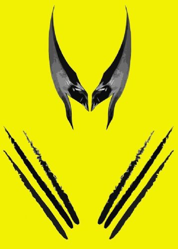 WOLVERINE - MINIMAL 3 canvas print - self adhesive poster - photo print